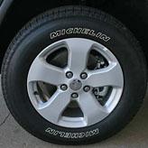 WK painted tech silver wheel