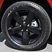 Aluminum wheels with black finish