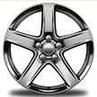 Forged 5-spoke polished with satin clear coat