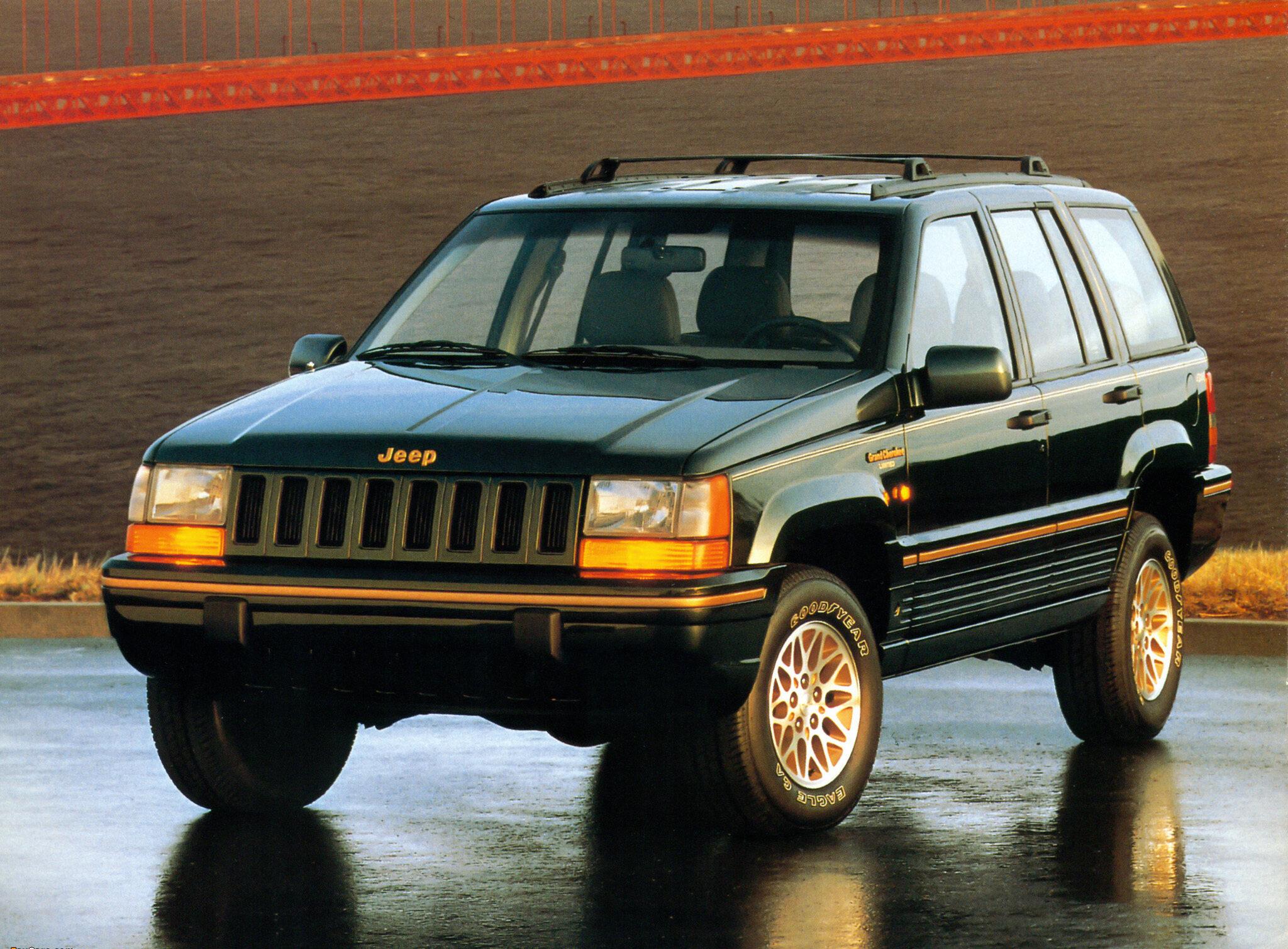1993 Hunter Green Metallic Jeep Grand Cherokee