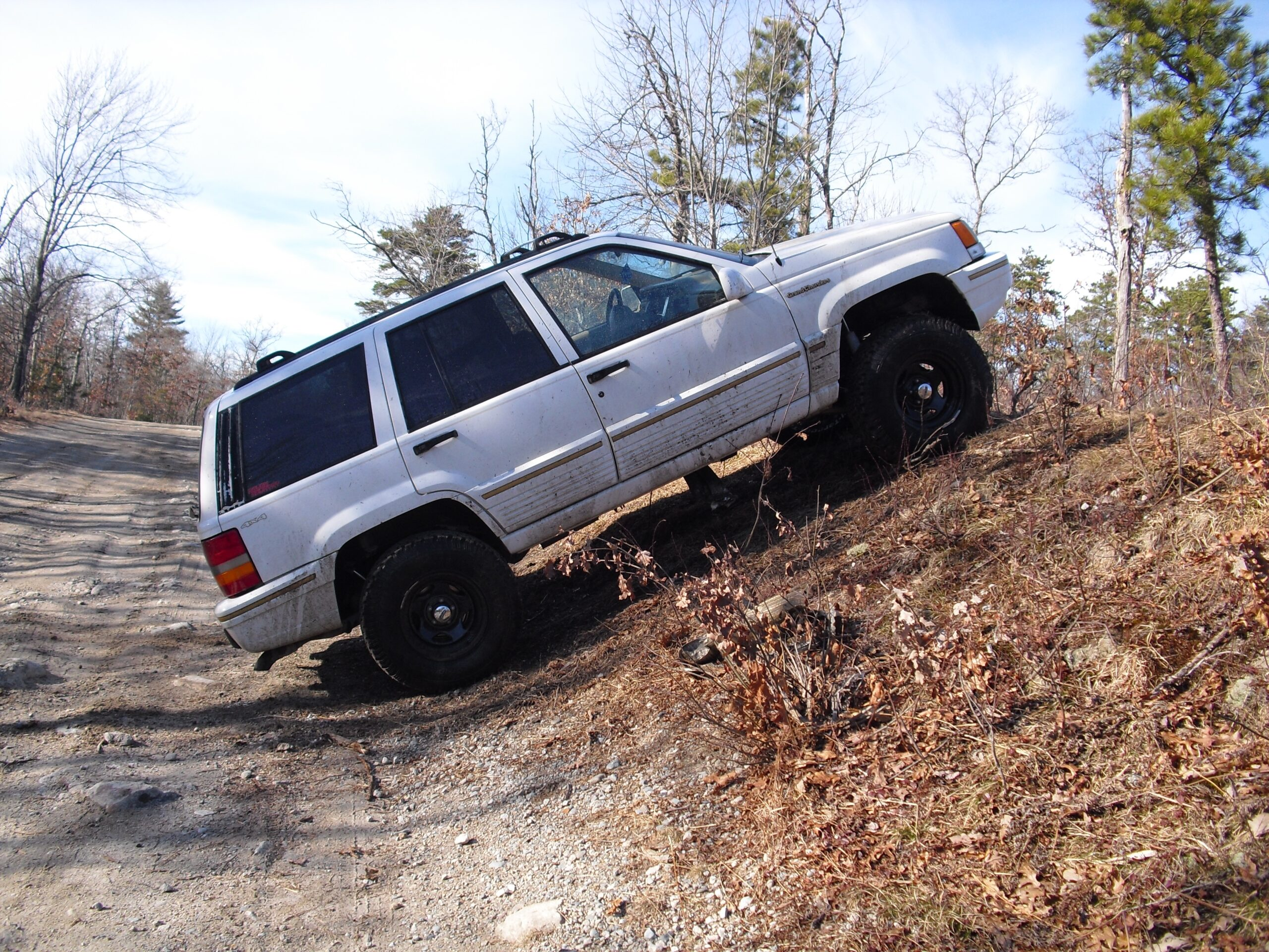 White 1995 Jeep Grand Cherokee