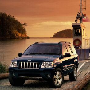 2003 Grand Cherokee at Sunset