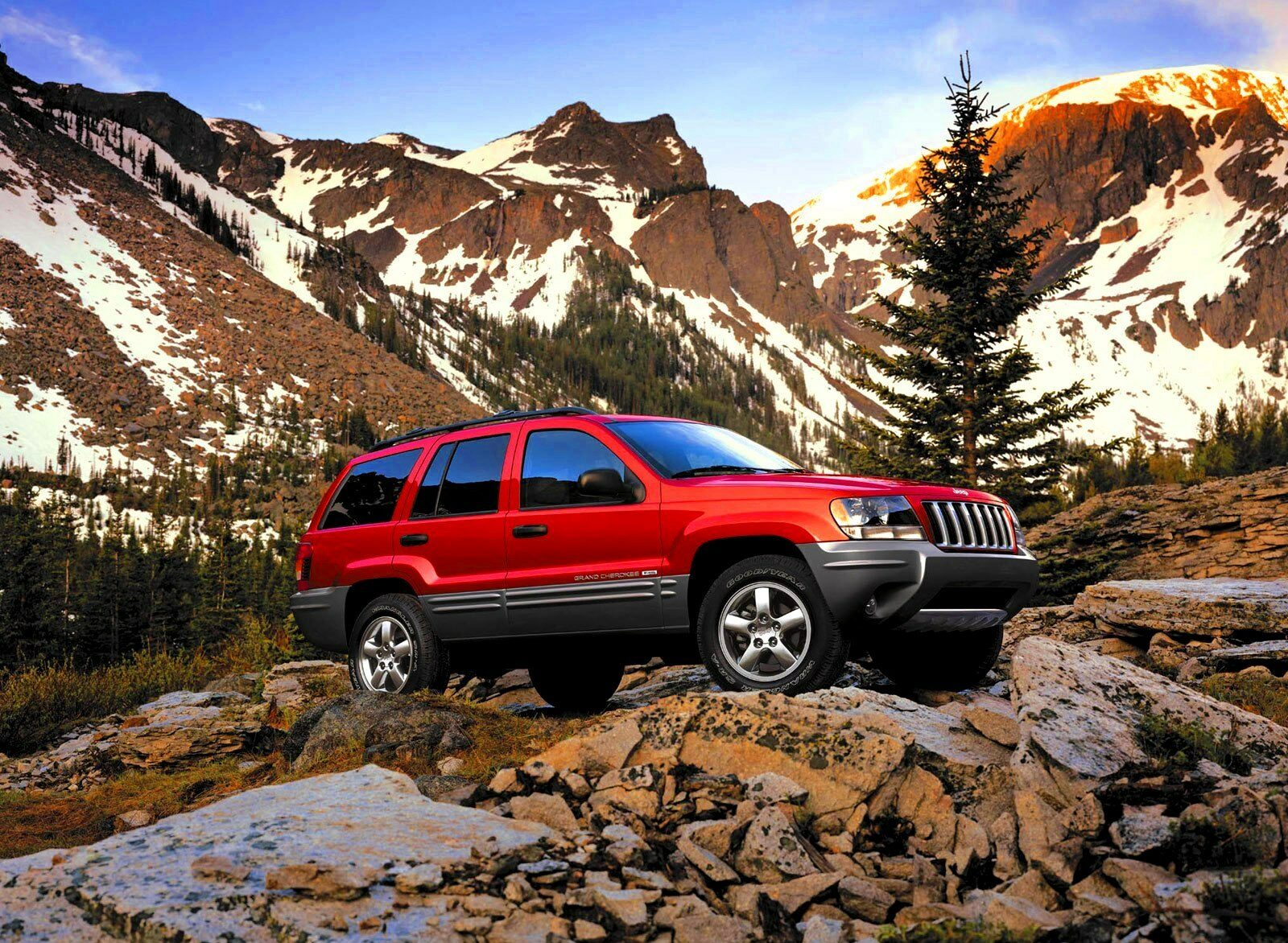 2003 Inferno Red Jeep Grand Cherokee